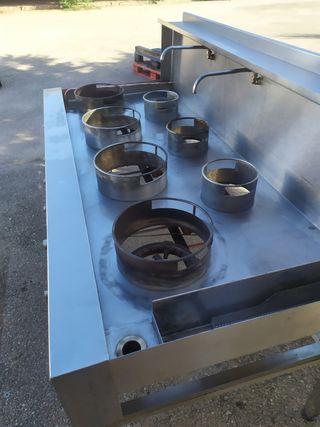 cocina industrial wok