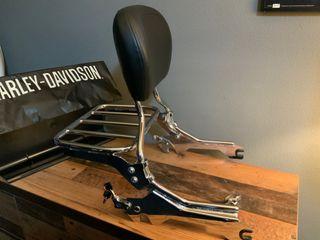 Portaequipajes y respaldo Harley Davidson Fat Boy