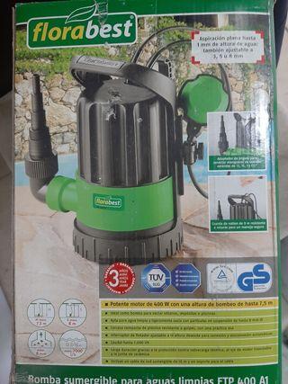 bomba aguas sumergible eléctrica 400w 7000 l/h
