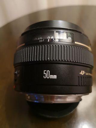 objetivo canon 50mm 1.4 ultrasonic
