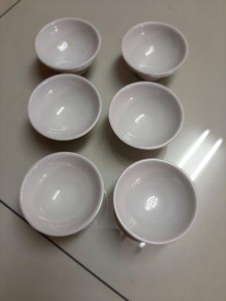 Copas para helado de cerámica.
