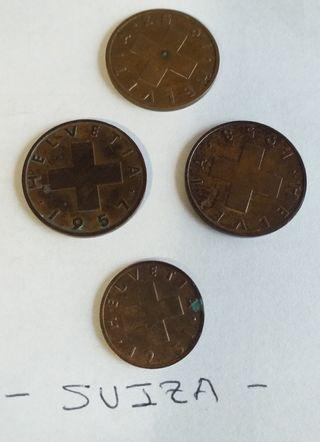 Monedas de SUIZA.