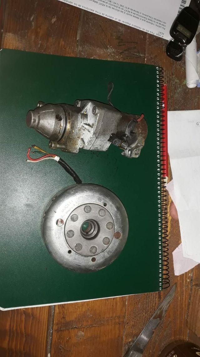 motor de arranque y rotor