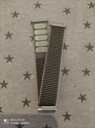 Correa reloj militar tela 22 mm