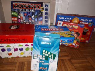 lote de 10 juegos de mesa e infantiles.