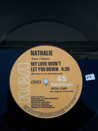 Nathalie. New wave electrónica pop. vinilo