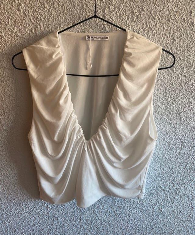 Top Zara blanco