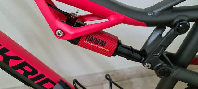 BICICLETA DE MONTAÑA DOBLE SUSPENSION ROCKRIDER