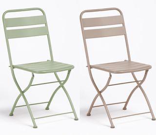 2 sillas plegables