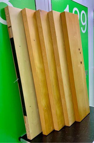 5 estantes Lack IKEA color madera clara