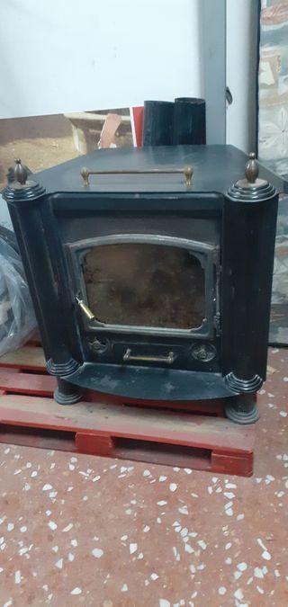 chimenea con horno