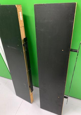 2 estantes negros lack Ikea