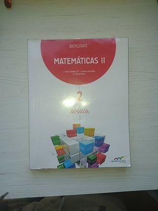 Matematicas II bachillerato ANAYA