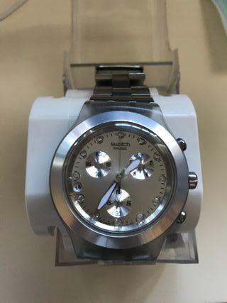 Reloj swatch plata
