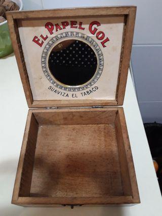 caja antigua madera coleccionismo