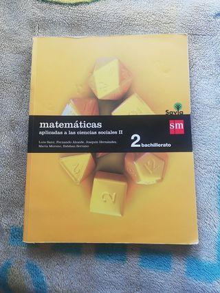 Libro de matemáticas de 2° de Bachillerato