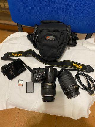 Nikon D3100. Más objetivos 18/55mm y 55/200 vr