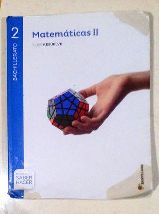 MATEMATICAS II 2º BACHILLER SANTILLANA