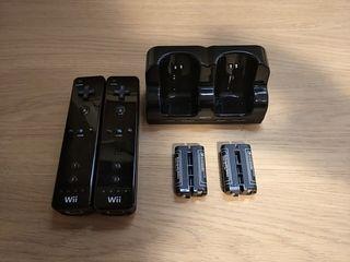 Mandos Wii y cargador baterias