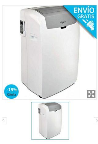 aire acondicionado portátil frío calor Whirlpool
