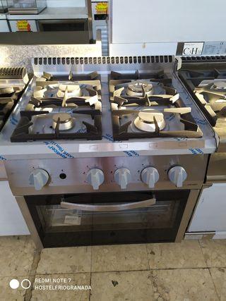 cocina a gas de 4 fuegos horno fondo 700mm europea