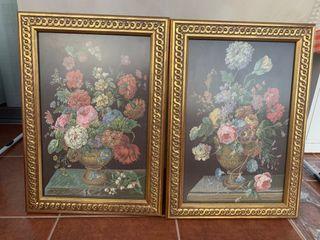 Tapices enmarcados de flores