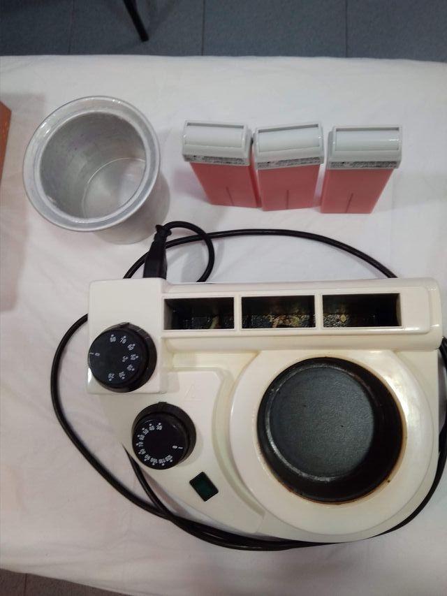 calentador de cera depilacion con rolones de regal
