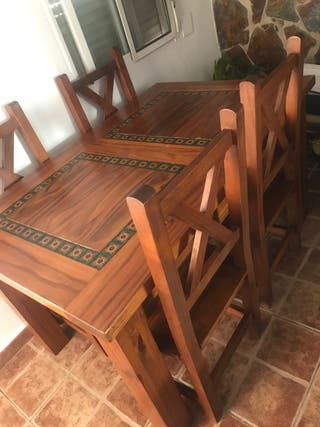 Lote muebles madera mexicana