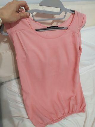 Blusa rosa pastel talla XS