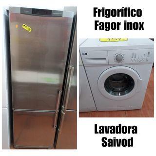 Frigorífico Fagor inox + Lavadora Saivod