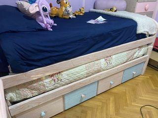 Habitacion niño y niña camas dobles con colchones