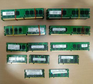 Memoria RAM DDR2 512Mb 1GB 2GB