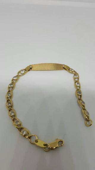 pulsera de oro amarillo de 18 kilates