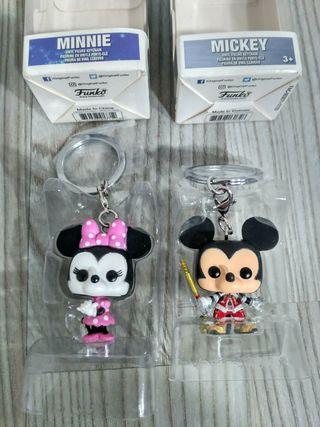 2 Llaveros Minnie y Mickey