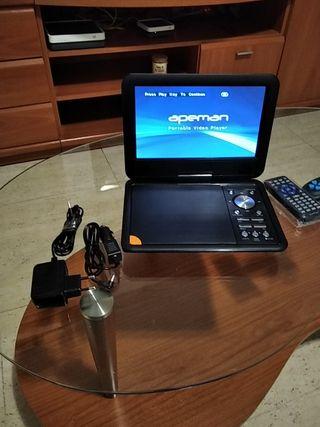 dvd portátil con USB mando y mando para juegos