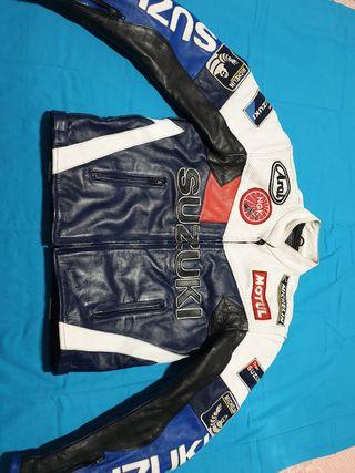 Chaqueta moto piel Team Suzuki