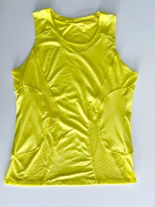 Camiseta sin mangas amarillo Btwin