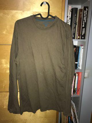 Camiseta manga larga marron