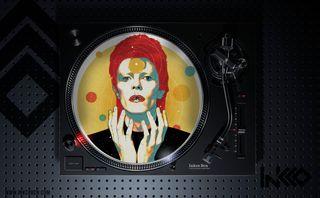 Slipmat (deslizador) de David Bowie Ilustrado