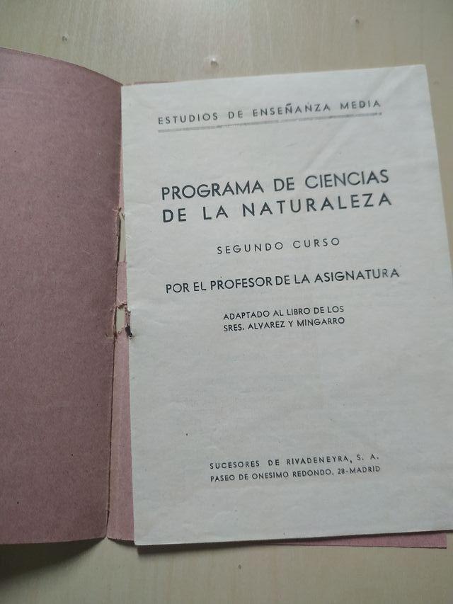 Programa de Ciencias de la Naturaleza.