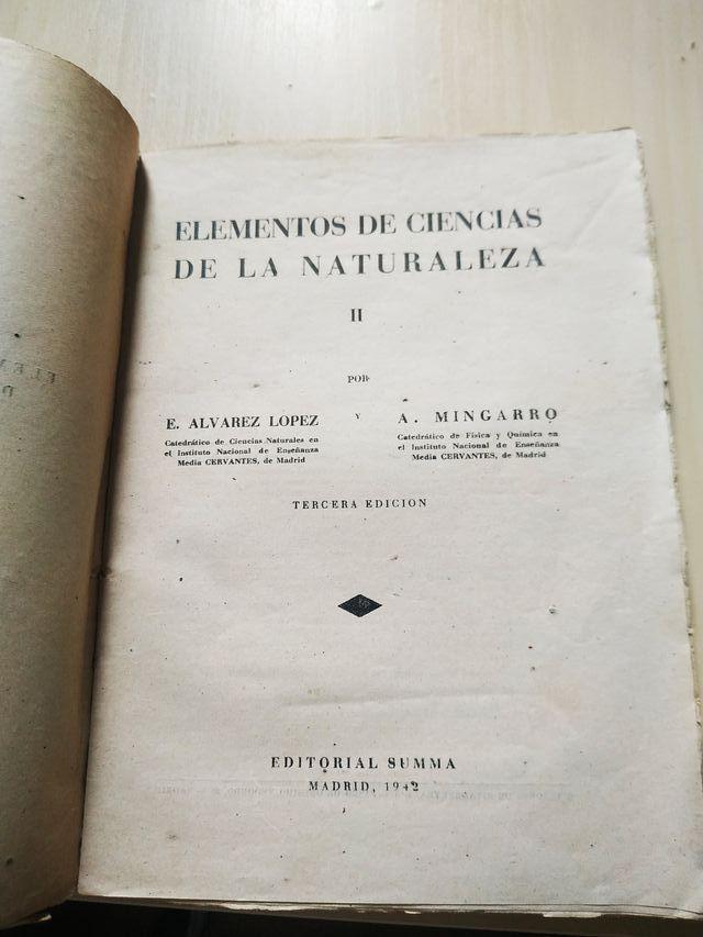 1942. Elementos de Ciencias de la Naturaleza II