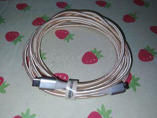 Cable macho de USB 2.0 C a micro-US de 3 metros