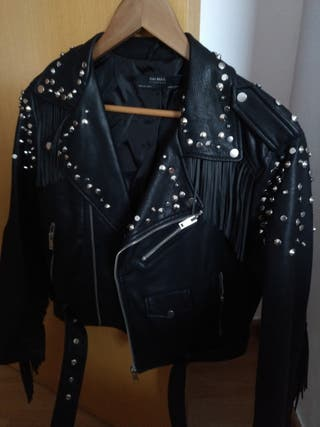 Cazadora biker Zara negra talla L