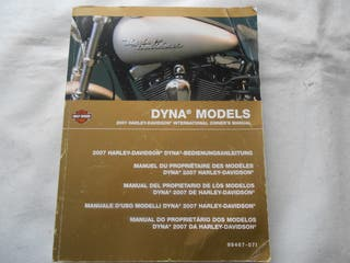 Harley Davidson, Manual de propietario dyna 2007
