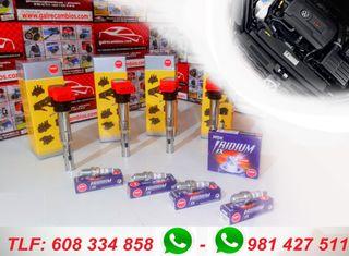 Bobinas y bujías de iridum NGK para motor TFSi TSi
