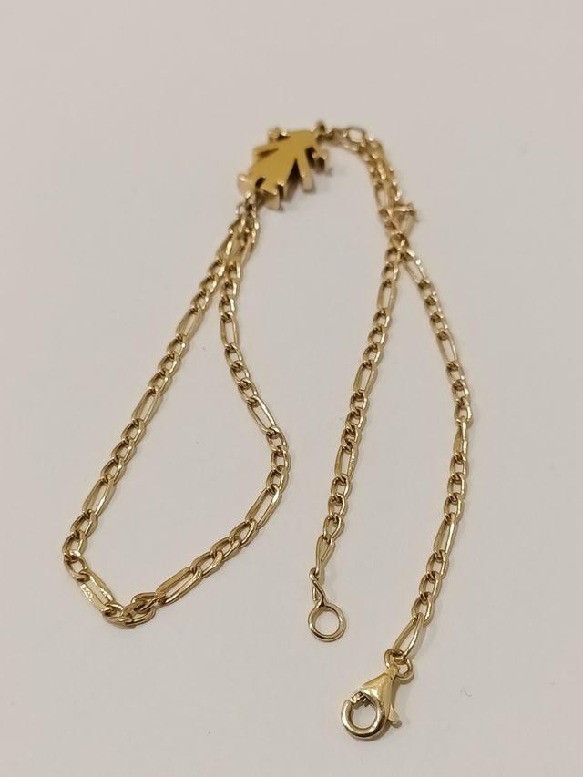 Pulsera tipo árabe oro primera ley