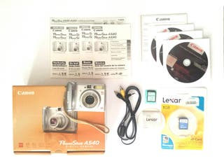 CANON POWER SHOT A540 Camara digital color plata