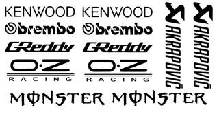 Pegatinas vinilo patrocinadores coche o moto