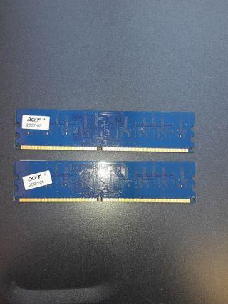 2 módulos de memoria PC2