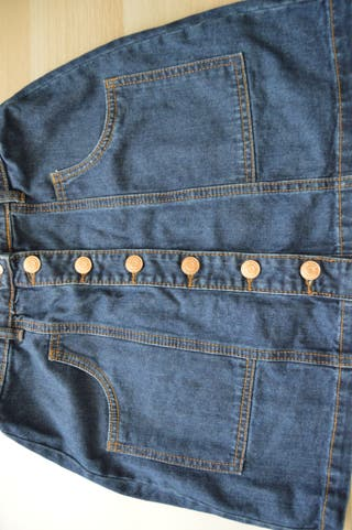 Falda vaquera de botones